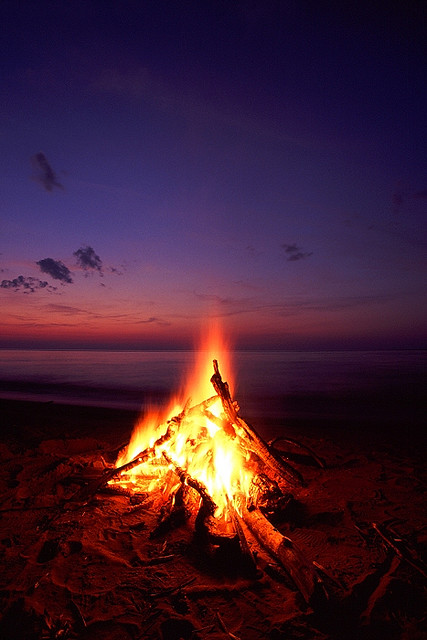 how to make bonfire on terrace