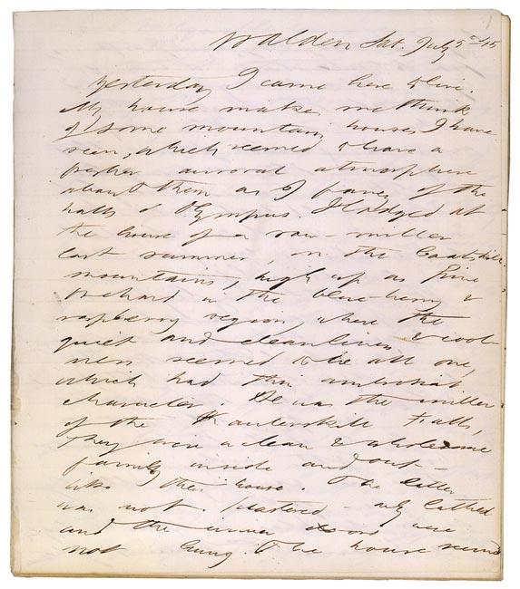 Henry david thoreau writing style