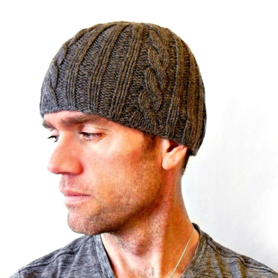 Chunky Scarf Knitting Patterns Free : Mens Knit Beanie - KarinSF