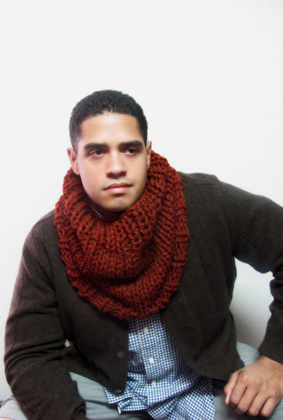 Mens Scarves Stay warm and cozy during the cold weather months with a stylish scarf. Men's scarves made with natural fibers and heat-trapping materials can be a fashionable and practical addition to any man's wardrobe.