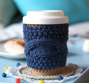 Handmade Coffee Cozy - Sheeps Clothing