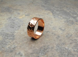 Handmade Hammered Copper Ring