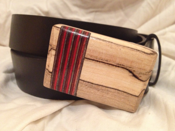 Hardwood Belt Buckle Men's Handmade