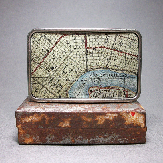 Map Belt Buckle