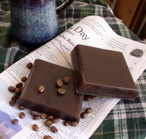 Men's Coffee Soap - Sweet Pea In WInter