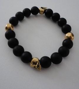 Skull Onyx Bracelet