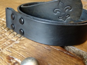 Handmade Black Leather Belt - Hidey Hidey Hide