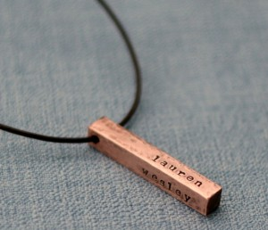 Handmade Stamped Necklace