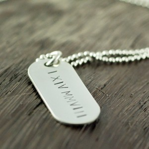 Men's Handmade Necklace Stamped