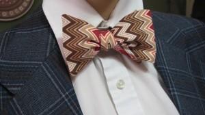Zig Zag Handmade Bow Tie - Cloutseu