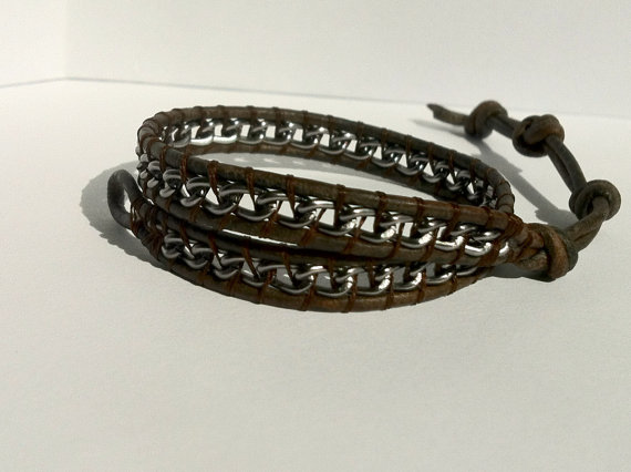 Leather Mens Handmade Ankle Bracelet