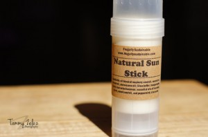 Natural handmade sunblock stick
