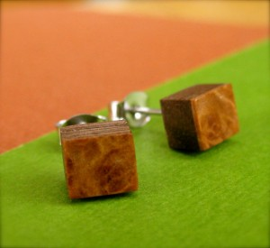 Wood Handmade Ear Studs Posts