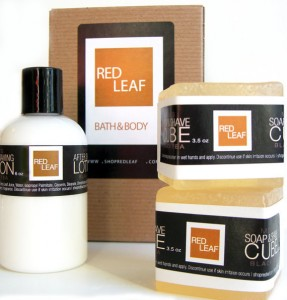 Men's Handmade Shaving Gift Set - Red Lead bath Body