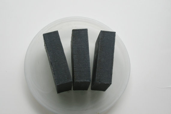 mens handmade charcoal soap