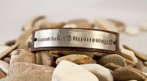 Handm Stamped Mens Bracelet Etsy