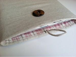Handmade Linen iPad Tablet Cover Case