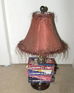 handmade lamp table
