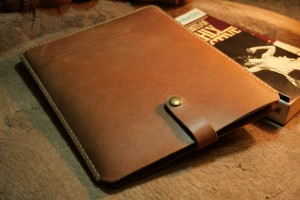 handmade leather ipad sleeve