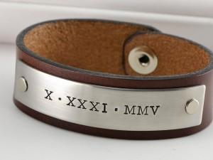 mens' stamped cuff bracelet