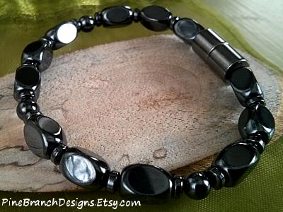 Handmade Mens Magnetic Bracelet