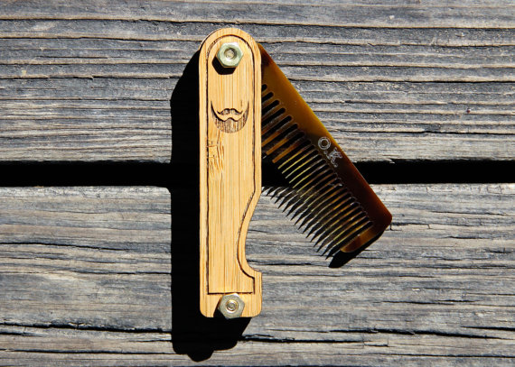 Men's Handmade Folding Beard Comb