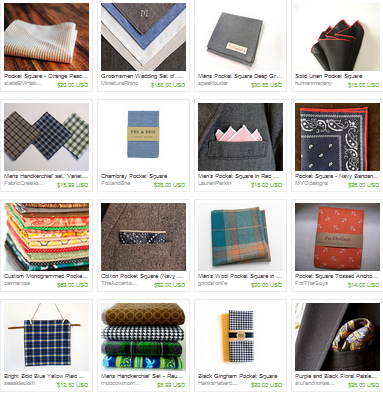 Mens Pocket Squares Handmade