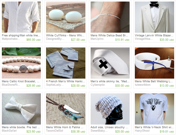 Mens White Winter Treasury