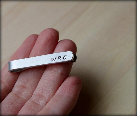 Hand Stamped Tie Clip