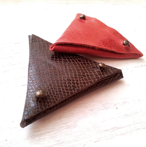 Coin Purse - Hand Stitched - Mens wallet - Change purse - Leather wallet - Holday gifts