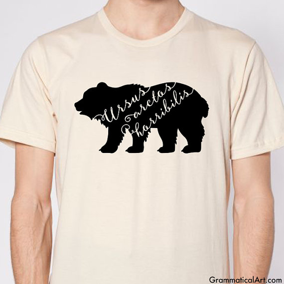 Grizzly Bear Shirt Grizzly Bear T Shirt Typography T Shirt