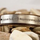 Giveaway! Men's Stamped Leather Bracelet