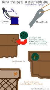 How To Sew A Button On