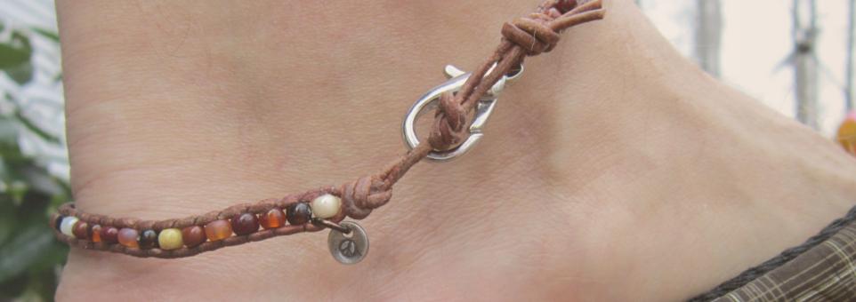 Mens Ankle Wrap Bracelet Handmade