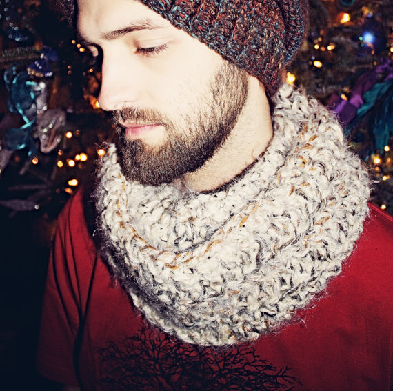 Mens Handmade Cowl - Golden Hands Design