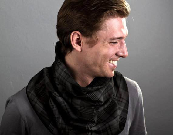 Men's Plaid Cowl - Le Posh Noir