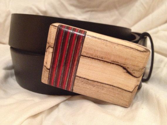 Hardwood Belt Buckle Men's Handmade