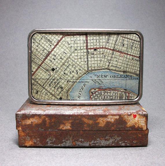 Map Belt Buckle