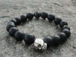 Mens Handmade Skull Bracelet