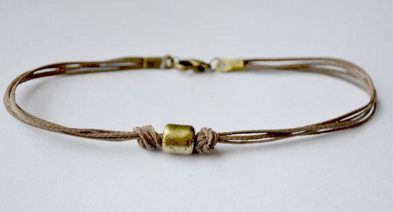 Mens Handmade Ankle Bracelet