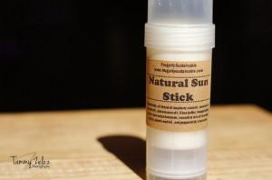 Natural handmade sunblock stick