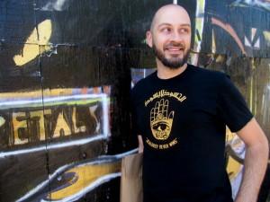 Metallic Print Mens Handmade Shirt