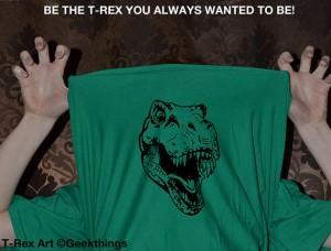 trex flip up t-shirt