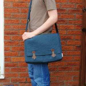 hemp mens handmade messenger bag