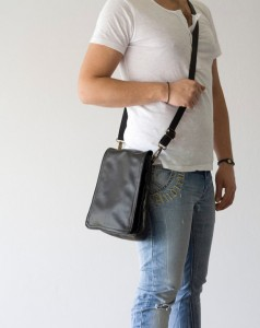 mens handmade leather bag