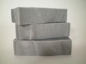 handmade men's soap - charcoal