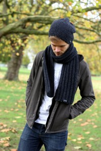 Handmade Mens Knitted Scarf
