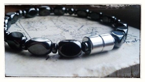 Handmade Men Bracelet - Magnet Therapy