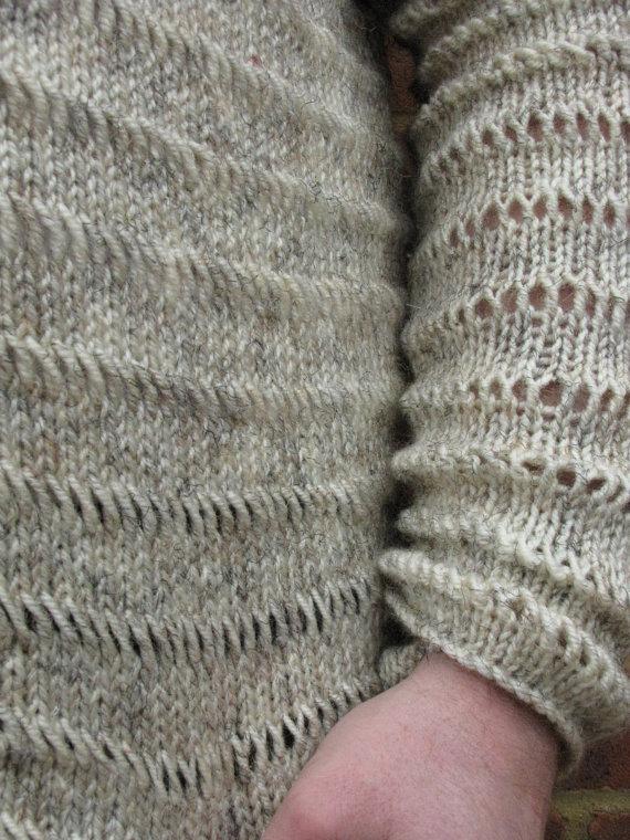 Mens Handmade Knit Sweater