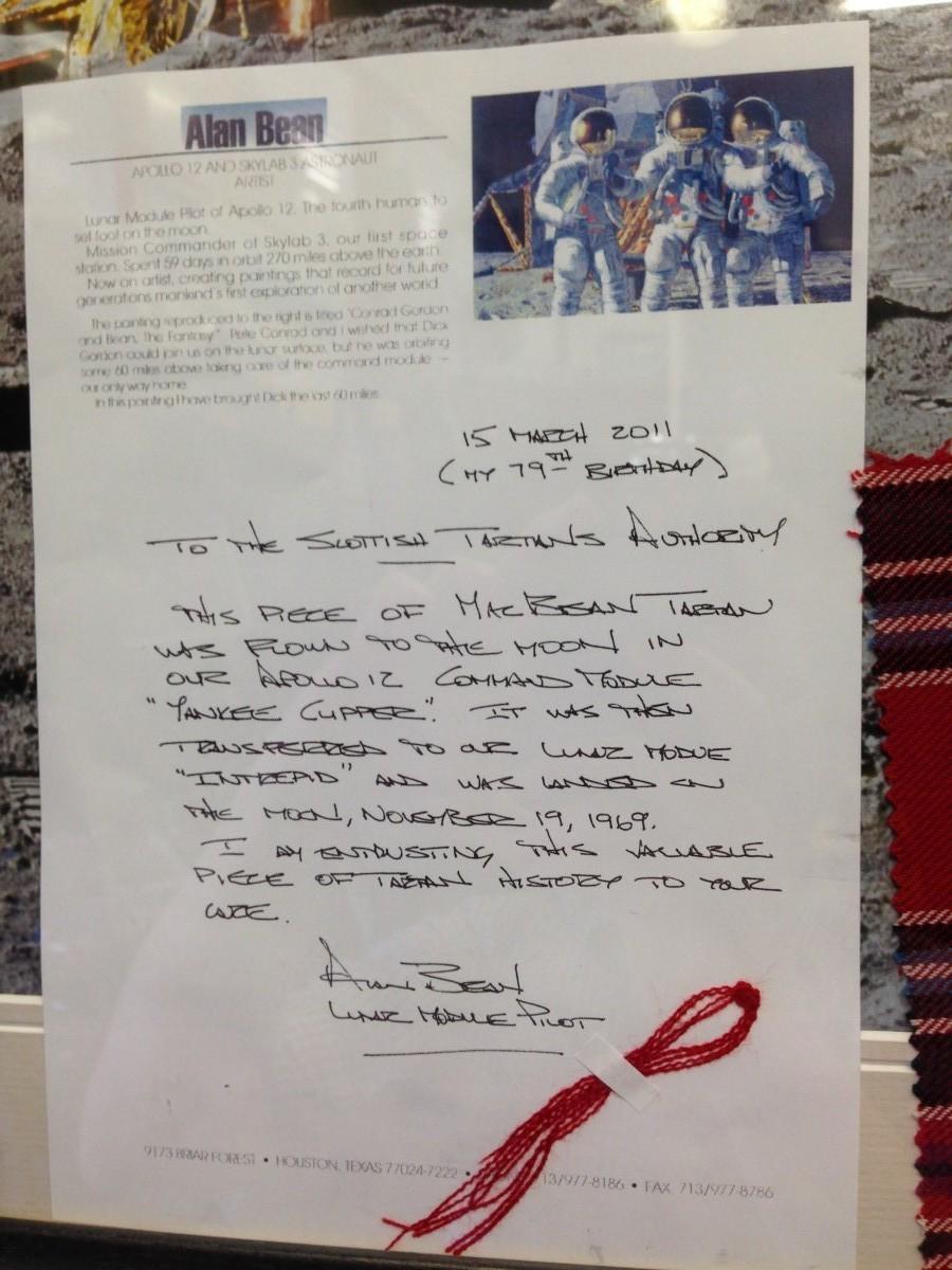 Apollo 12 Tartan Letter